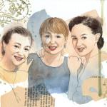 Porträt von drei Freundinnen