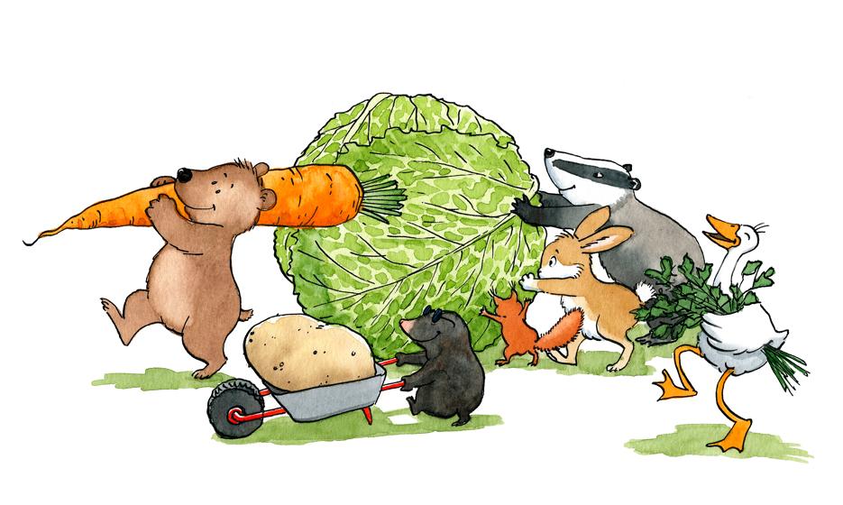 Gemüsesuppe (Entwurf für ein Kinderkochbuch)