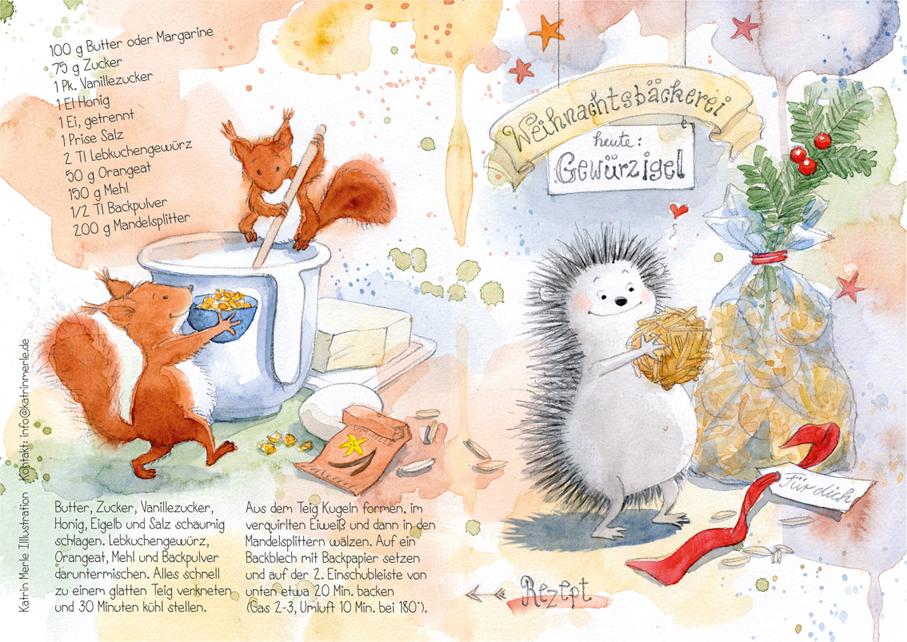 Weihnachtsklappkarte (Vorder- und Rückseite)