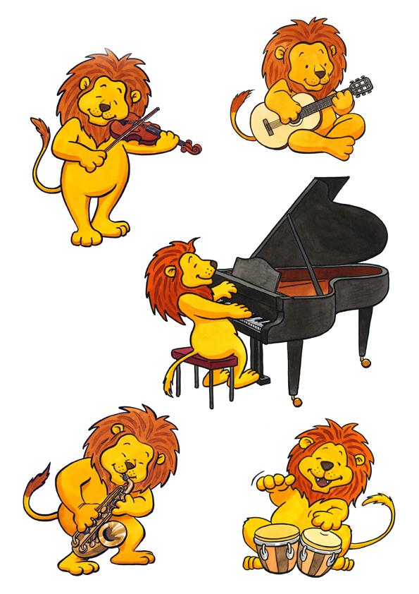 """""""Leo"""", Character für die Leo-Kestenberg-Musikschule"""