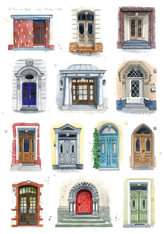 """Plakat """"Türen von Tegel"""", eigenes Projekt"""