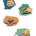 Vignetten, Postbank-Broschüren