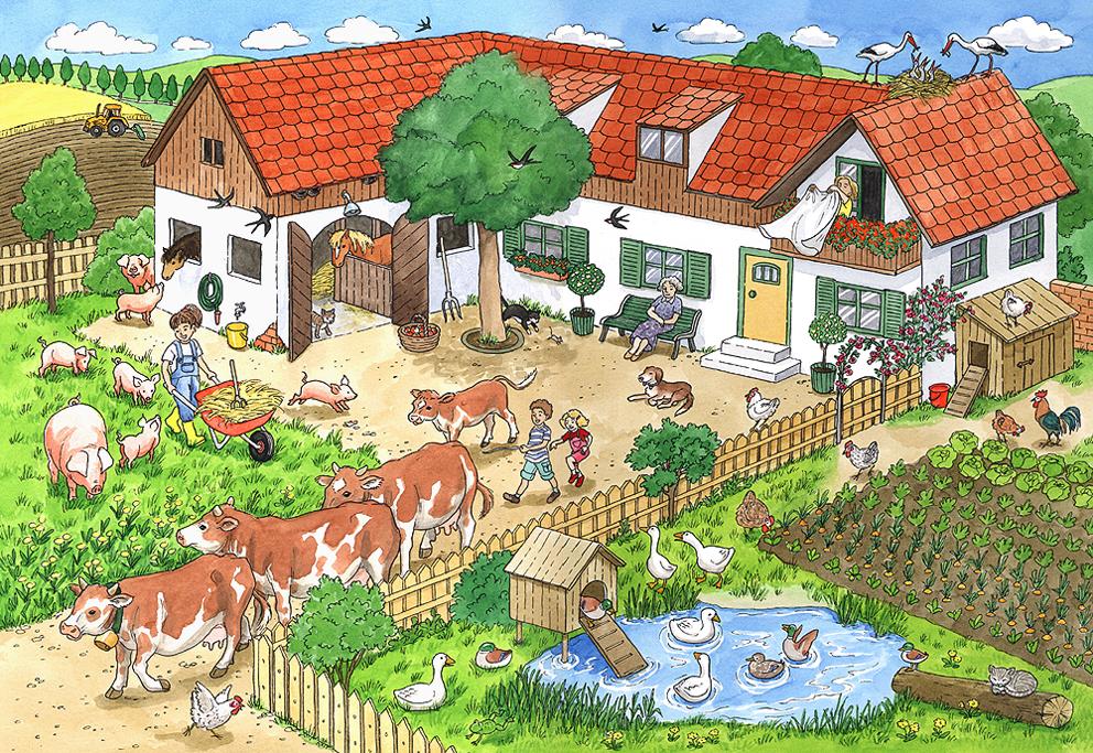 Bauernhofpuzzle, Ravensburger Spiele