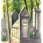Zeichnungen vom Jüdischen Friedhof in Berlin-Weißensee, Zyklus von 10 Bildern