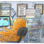 """""""Prokrastination"""", Postkarte"""